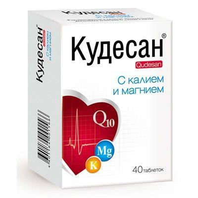 Кудесан с калием и магнием, 1000 мг, таблетки, 40 шт. — купить в Белгороде, инструкция по применению, цены в аптеках, отзывы и аналоги. Производитель Русфик