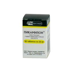 Пикамилон, 20 мг, таблетки, 30 шт.