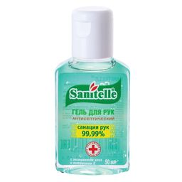 Sanitelle гель антисептический для рук с алоэ и витамином E, 50 мл, 1 шт.