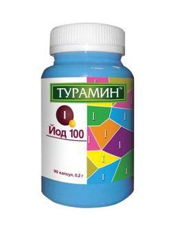 Турамин Йод, 0.2 г, капсулы, 90 шт.