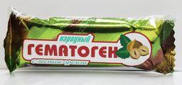 Гематоген Народный с лесным орехом, плитка, 40 г, 1 шт.