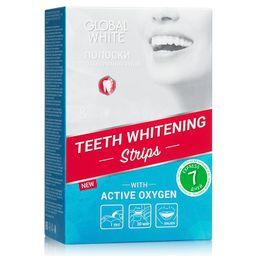 Global White полоски отбеливающие для зубов Видимый эффект за 7 дней, 7 пар, 14 шт.