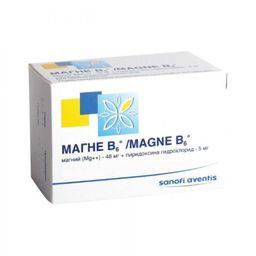 Магне B6, таблетки, покрытые пленочной оболочкой, 60 шт.