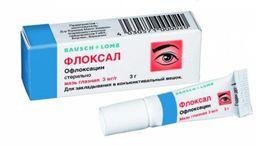 Флоксал, 3 мг/г, мазь глазная, 3 г, 1 шт.