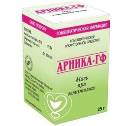 Арника-ГФ, мазь для наружного применения гомеопатическая, 25 г, 1 шт.