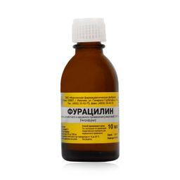 Фурацилин, 0.067%, раствор для местного и наружного применения спиртовой, 10 мл, 1 шт.