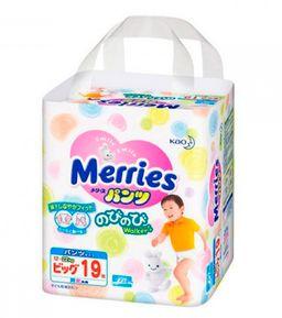 Подгузники-трусики детские Merries, 12-22 кг, р. XL, 19 шт.