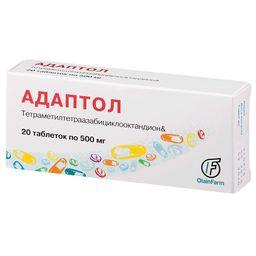 Адаптол, 500 мг, таблетки, 20 шт.