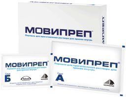 Мовипреп, 111.896 (саше А), 10.6 (саше Б), 2 саше А+2 саше Б , порошок для приготовления раствора для приема внутрь, 4 шт.