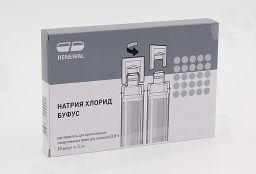 Натрия хлорид буфус, 0.9%, растворитель для приготовления лекарственных форм для инъекций, 5 мл, 10 шт.