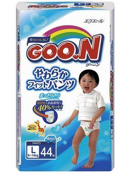 Подгузники-трусики детские GOON, L (9-14 кг), для мальчиков, 44 шт.
