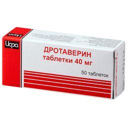 Дротаверин, 40 мг, таблетки, 50 шт.