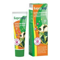 Барсукор бальзам-крем массажный для детей с барсучьим жиром, крем-бальзам, 30 мл, 1 шт.