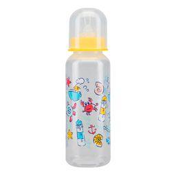 Курносики бутылочка с силиконовой соской 0+, 250 мл, арт. 11004, с рисунком, в ассортименте, с силиконовой соской, 1 шт.