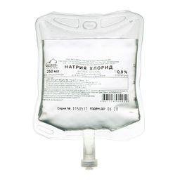 Натрия хлорид, 0.9%, раствор для инфузий, 250 мл, 1 шт.