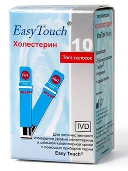 Тест-полоски на холестерин EasyTouch, 10 шт.