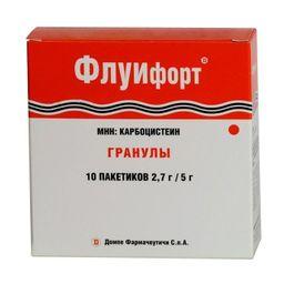 Флуифорт, 2.7 г, гранулы для приготовления суспензии для приема внутрь дозированные, 5 г, 10 шт.