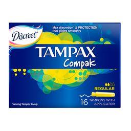 Tampax Compak regular тампоны женские гигиенические с аппликатором, 16 шт.