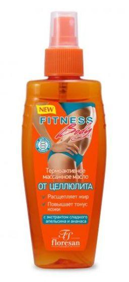 Floresan Фитнес Body термоактивное массажное масло От целлюлита, формула 55, масло, 135 мл, 1 шт.