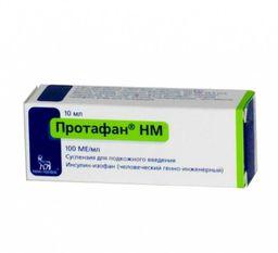 Протафан HM, 100 МЕ/мл, суспензия для подкожного введения, 10 мл, 1 шт.