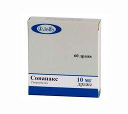 Сонапакс, 10 мг, таблетки, покрытые оболочкой, 60 шт.