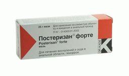Постеризан форте, мазь для ректального и наружного применения, 25 г, 1 шт.