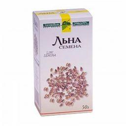 Льна семена, лекарственное растительное сырье, 50 г, 1 шт.