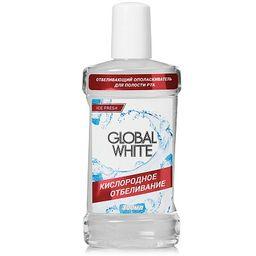 Global White Ополаскиватель отбеливающий, раствор для полоскания полости рта, 300 мл, 1 шт.