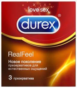 Презервативы Durex Real Feel, презерватив, анатомической формы, 3 шт.
