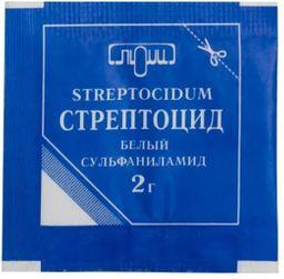 Стрептоцид, порошок для наружного применения, 2 г, 1 шт.