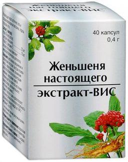 Женьшеня настоящего экстракт-ВИС, 0.4 г, капсулы, 40 шт.