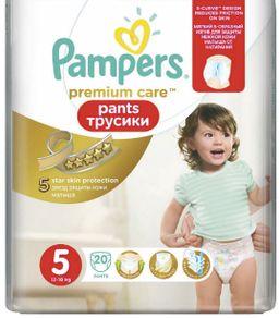 Подгузники-трусики детские Pampers Premium Care pants, 12-18 кг, р. 5 (Junior), 20 шт.