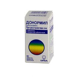 Донормил, 15 мг, таблетки, покрытые пленочной оболочкой, 30 шт.