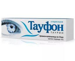 Тауфон, 4%, капли глазные, 10, 1 шт.
