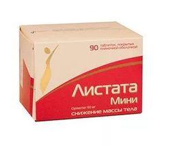 Листата Мини, 60 мг, таблетки, покрытые пленочной оболочкой, 90 шт.