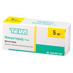 Финастерид-Тева, 5 мг, таблетки, покрытые пленочной оболочкой, 30 шт.