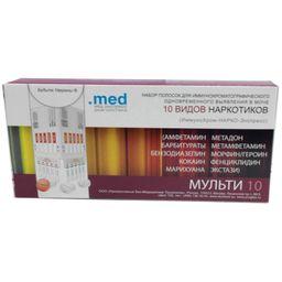 Тест на наркотики ИммуноХром-10-Мульти-Экспресс, тест-полоска, 1 шт.