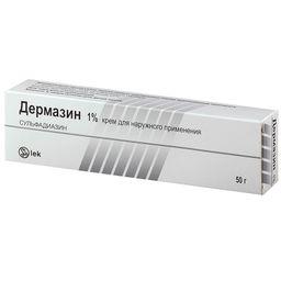 Дермазин, 1%, крем для наружного применения, 50 г, 1 шт.