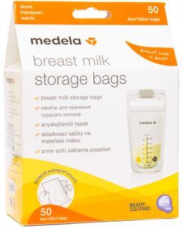 Medela Пакеты для хранения грудного молока, одноразовый (-ая, -ое, -ые), 180 мл, 50 шт.