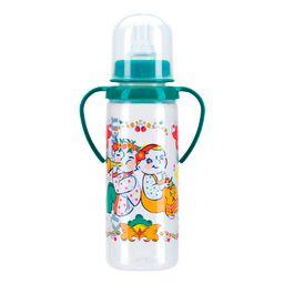 Курносики бутылочка с ручками и силиконовой соской 6 мес+, 250 мл, арт. 11113, с рисунком, в ассортименте, с силиконовой соской, 1 шт.