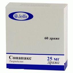 Сонапакс, 25 мг, таблетки, покрытые оболочкой, 60 шт.
