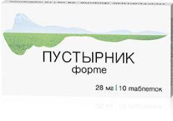 Пустырник Форте, 28 мг, таблетки, 10 шт.