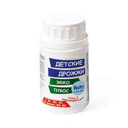 Дрожжи Экко Плюс Детские, 0.45 г, таблетки, 100 шт.